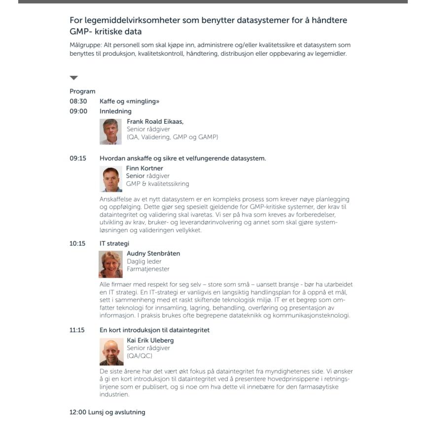 Invitasjon fra Norconsult: Gratis GMP-seminar om datasystemer og dataintegritet
