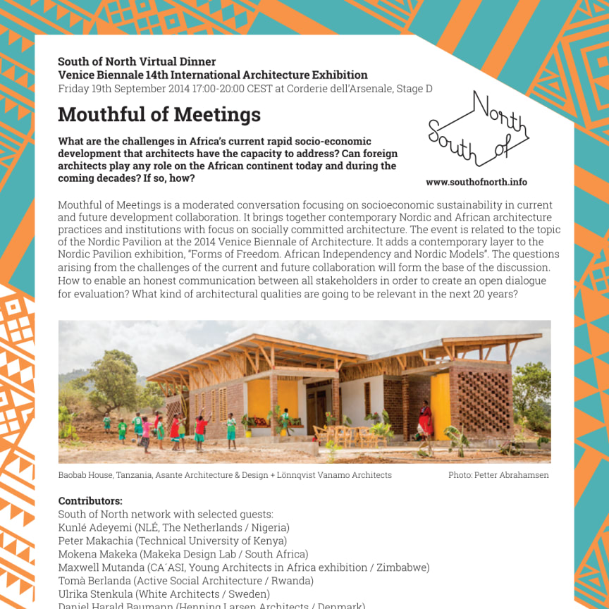 Mouthful of Meetings, seminar 19 September, Venice Biennale