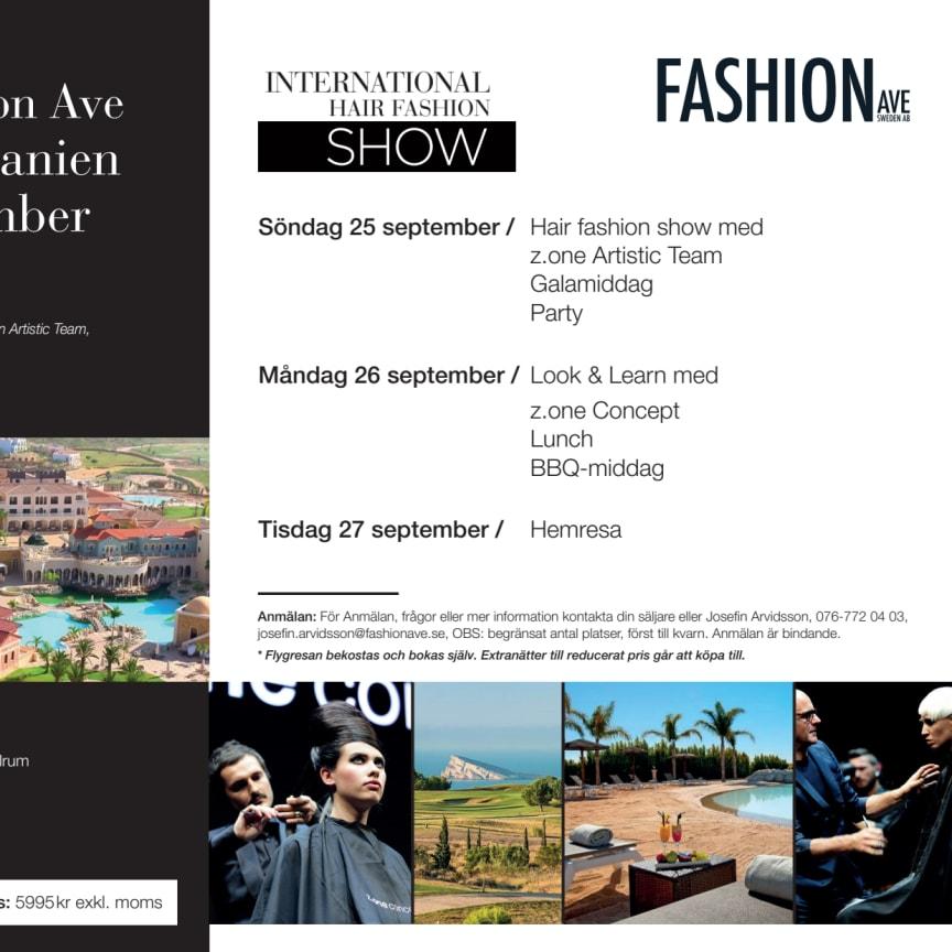 Följ med Fashion Ave till Alicante, Spanien, 25-27 september 2016