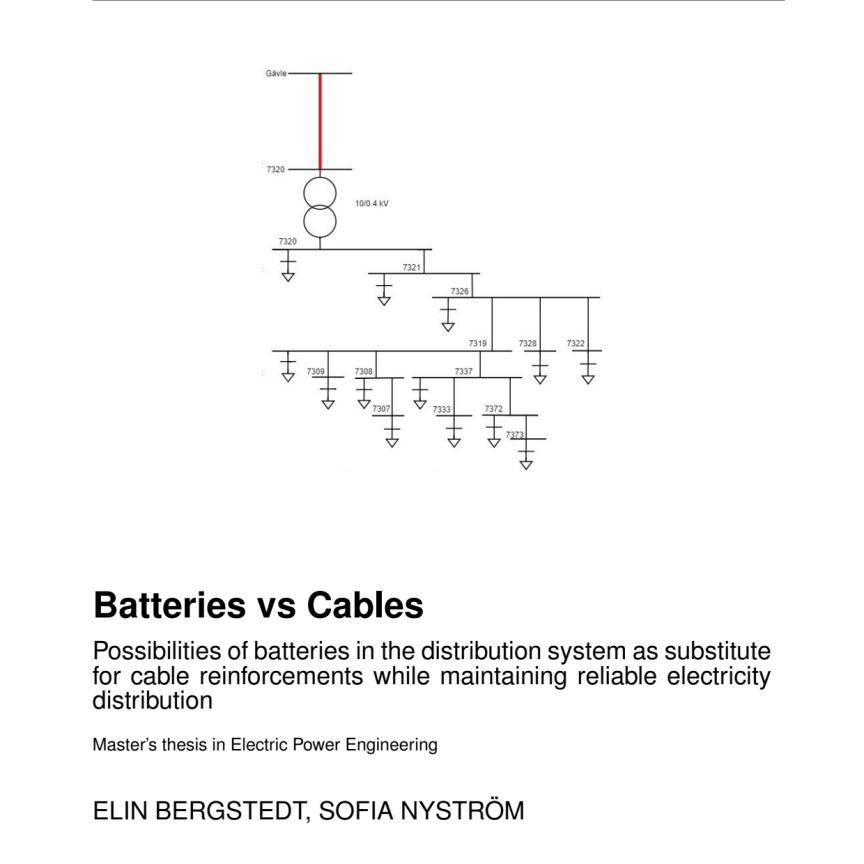 Exjobb Batteries vs Cables
