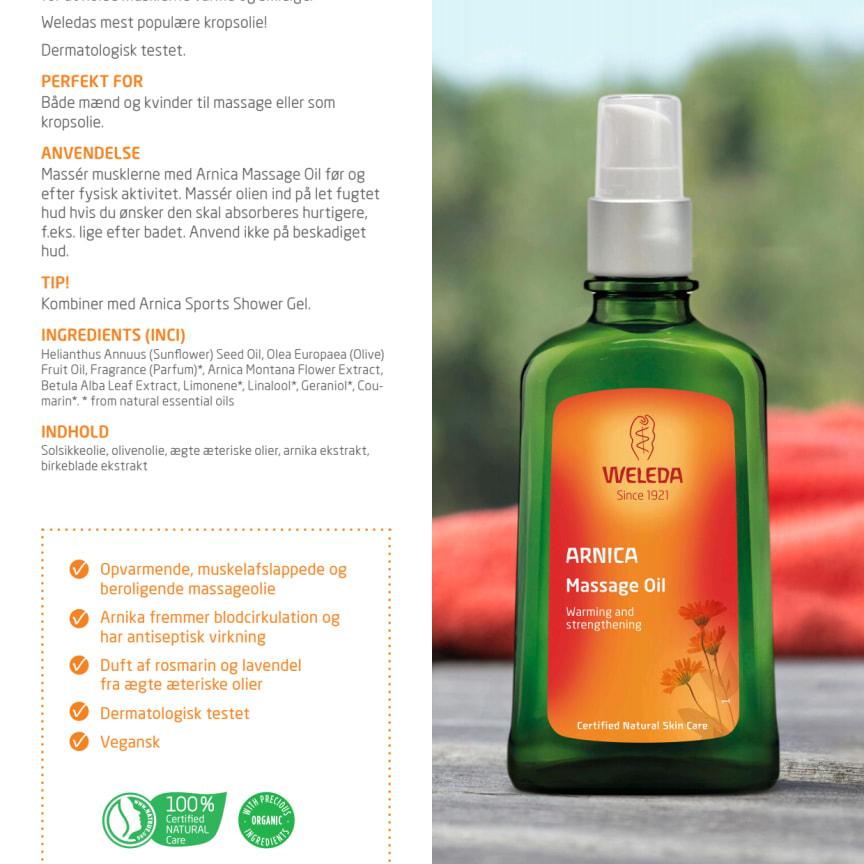 Dansk: Arnica Massage Oil