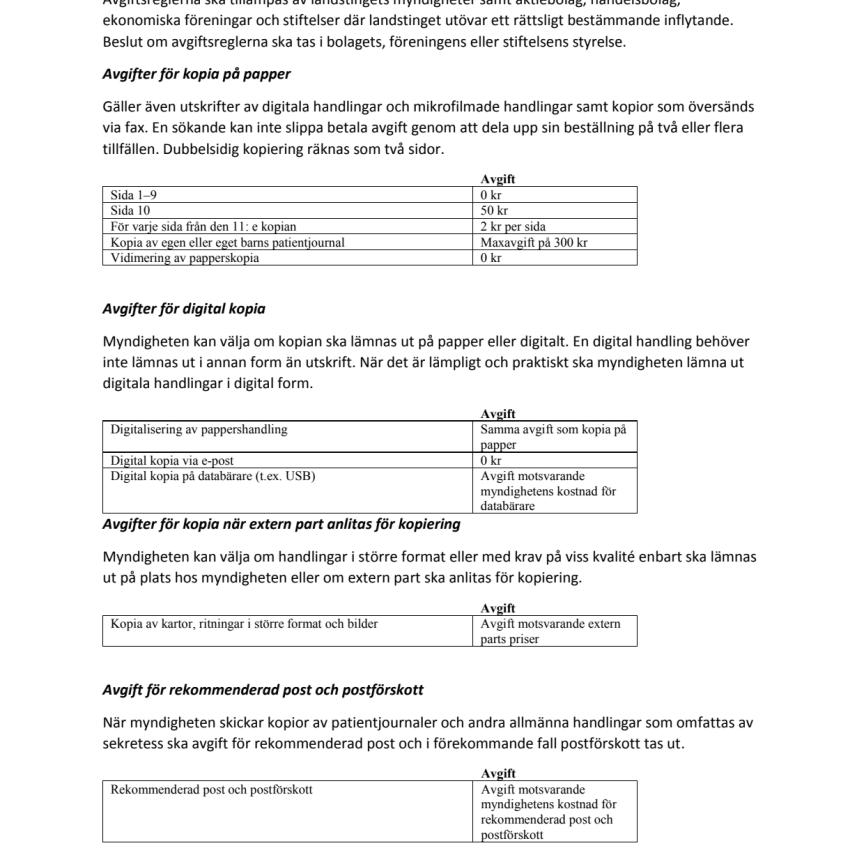 Landstingsarkivet Nyhetsbrev 2019-1_Bilaga Priser Allmän handling
