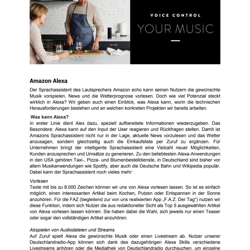 Factsheet zum Thema Alexa