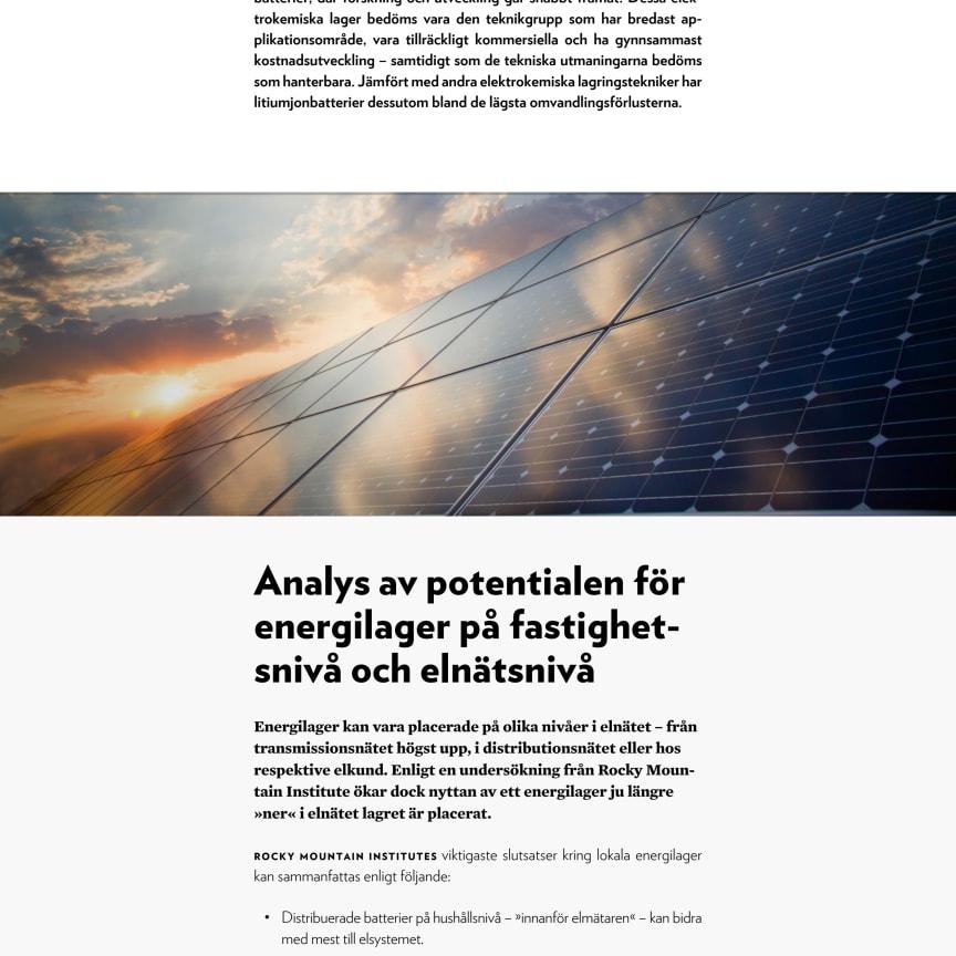 Lokala energilager i distributionsnäten - kort