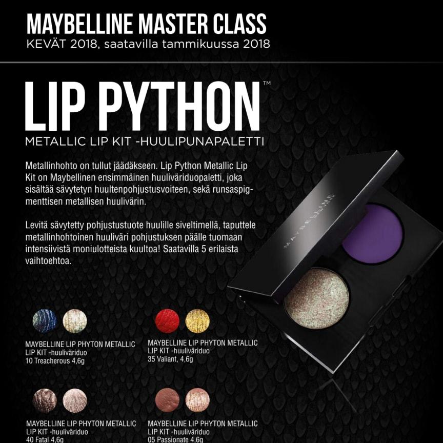 Maybelline MasterClass  Metallic Lip Python Duo -huulipunapaletti