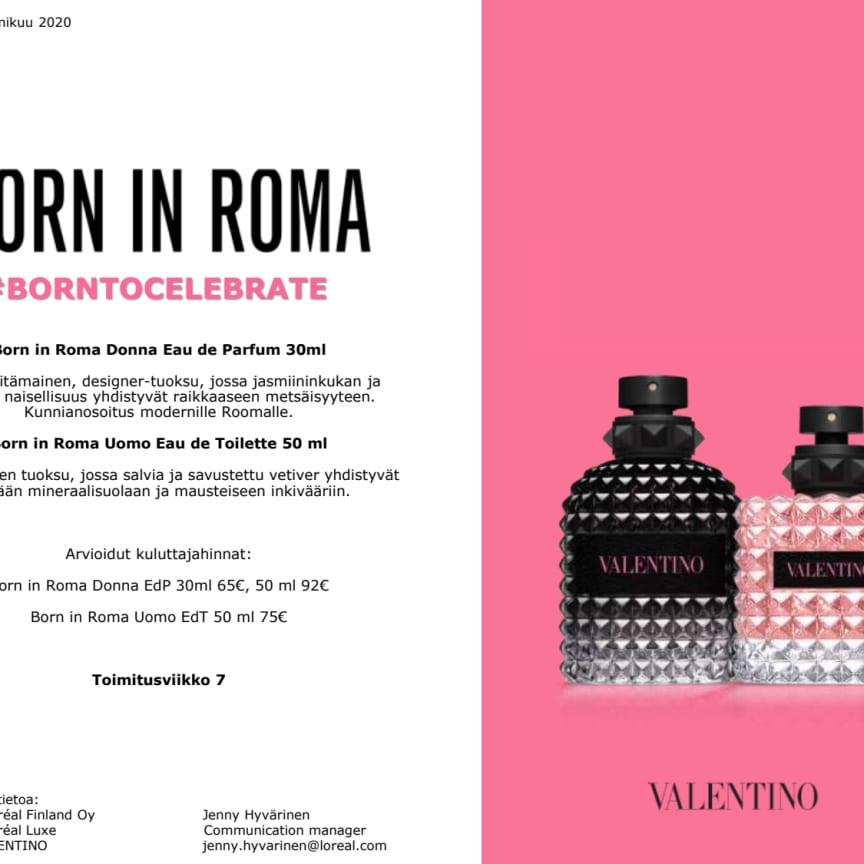 Lehdistötiedote Valentino Born in Roma