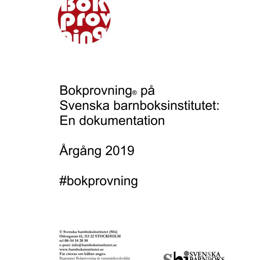 Svenska barnboksinstitutets Bokprovning 2020