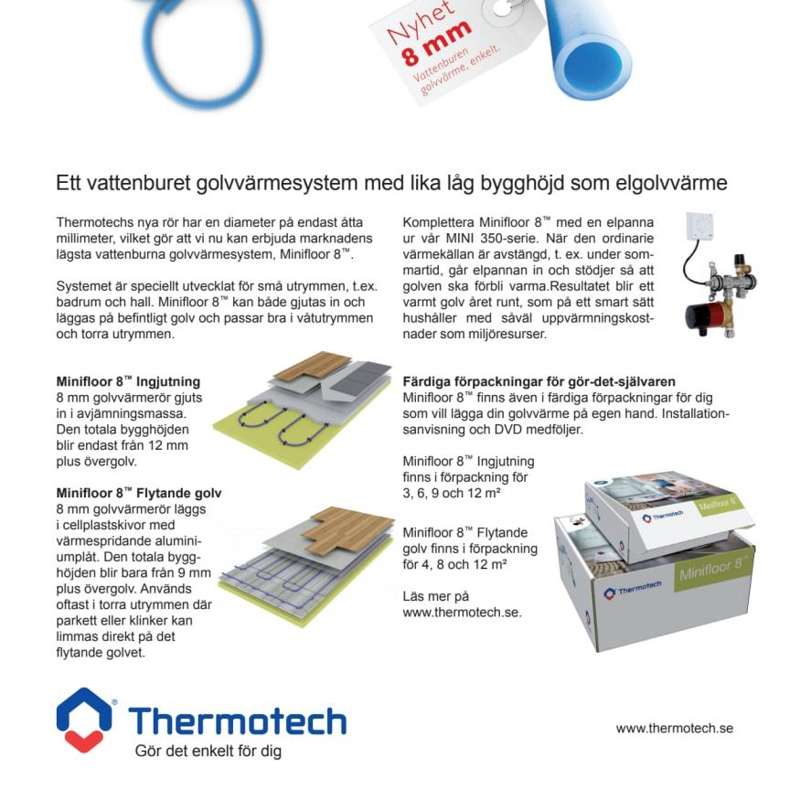 Produktnyhet från Thermotech golvvärme