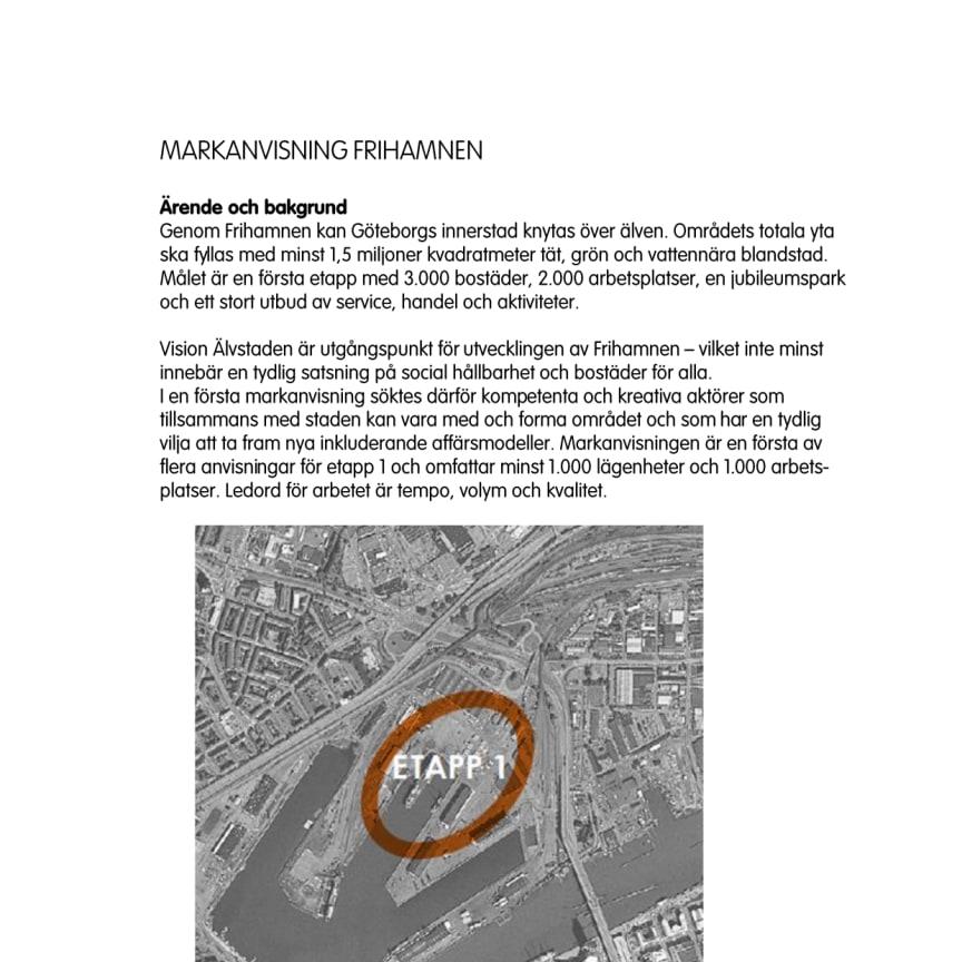 Beslutsunderlag Älvstranden Utvecklings styrelse 28/11 2014