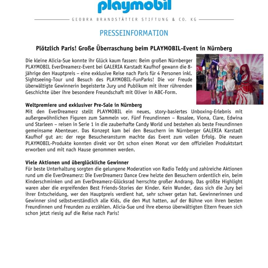 Plötzlich Paris! Große Überraschung beim PLAYMOBIL-Event in Nürnberg