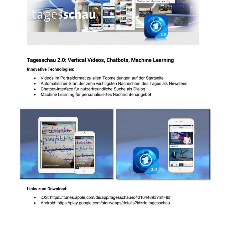 Factsheet zur Tagesschau 2.0 App