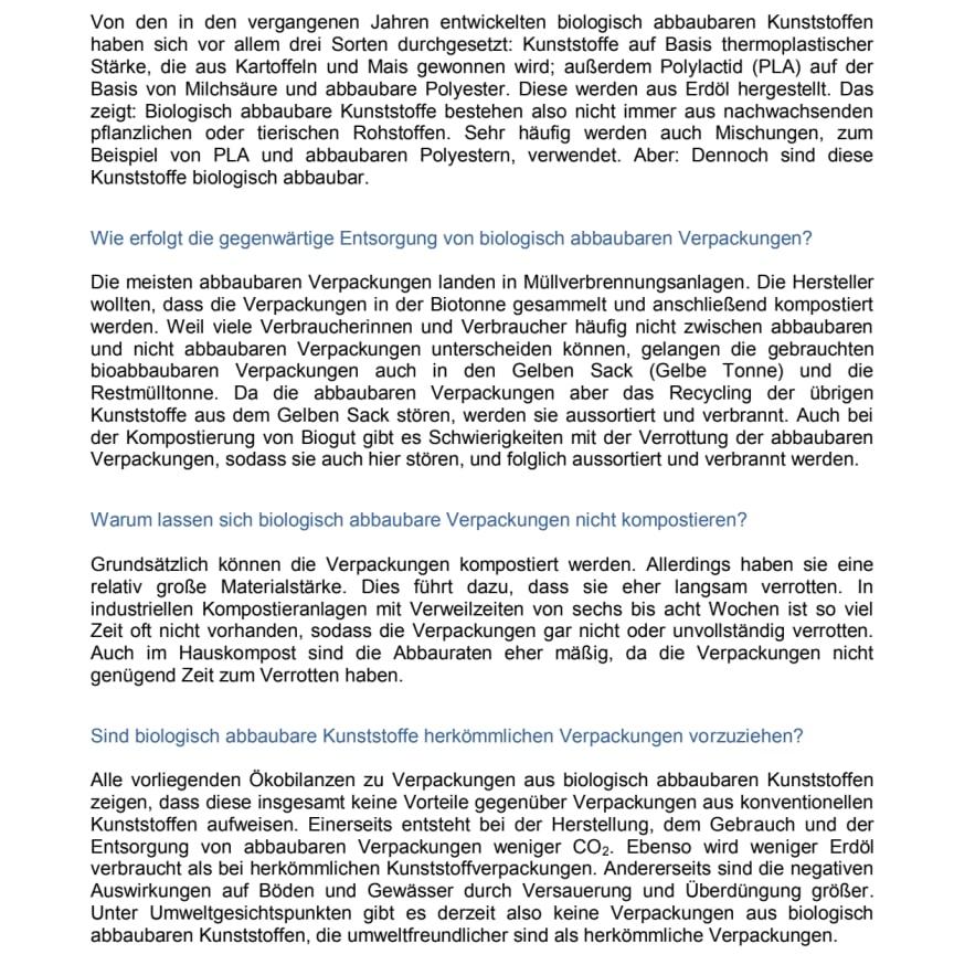 Begriffserklärungen vom Bundesumweltamt