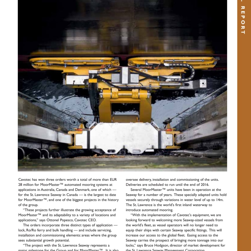 Dry Cargo International reports on our latest round of automated mooring projects
