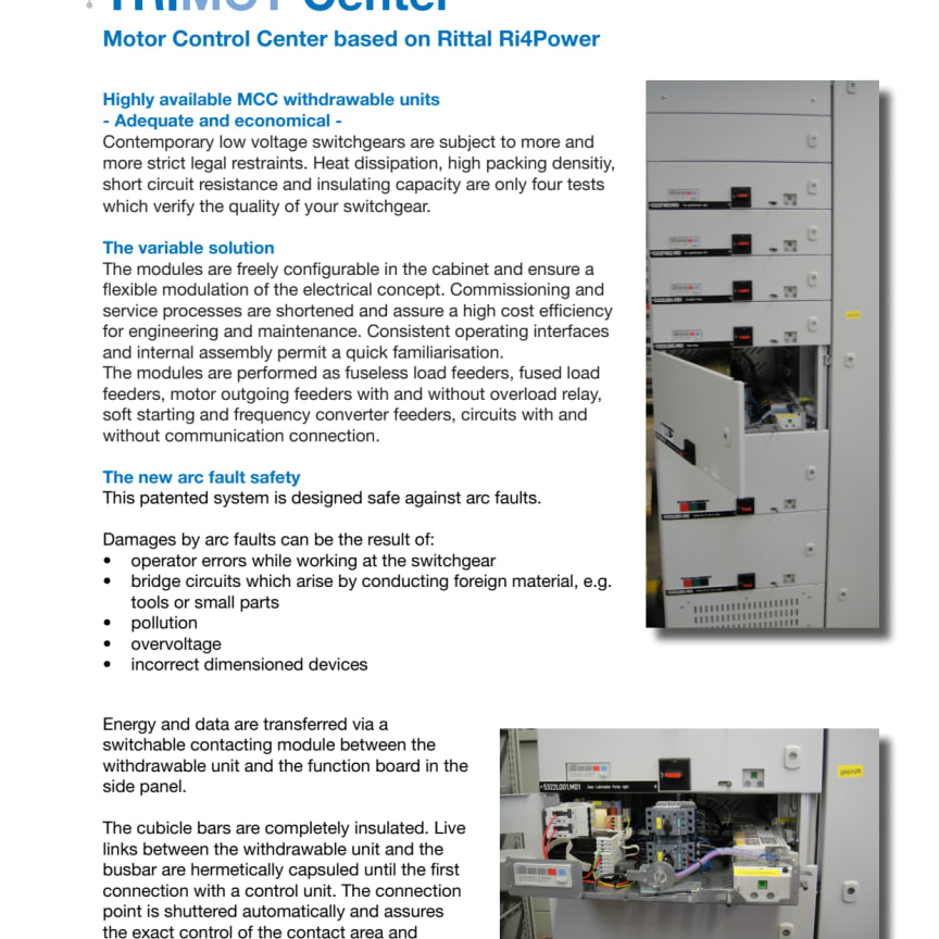 Trimot Center - Motor Control Center based on Rittal Ri4Power