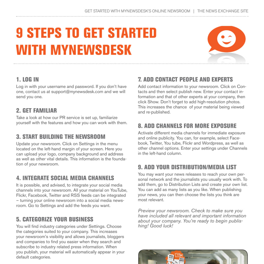 9 quick steps to get started with Mynewsdesk