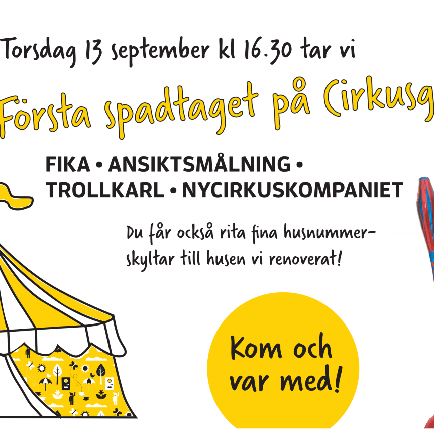Första spadtaget Cirkusgården