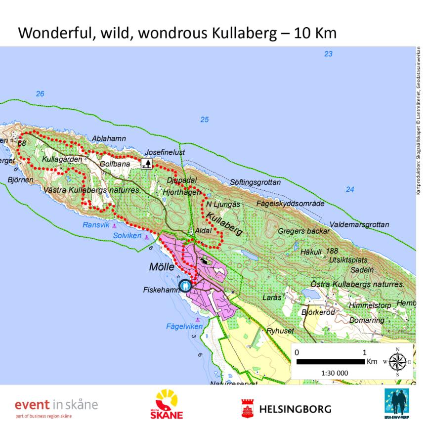 Karta över vandringen