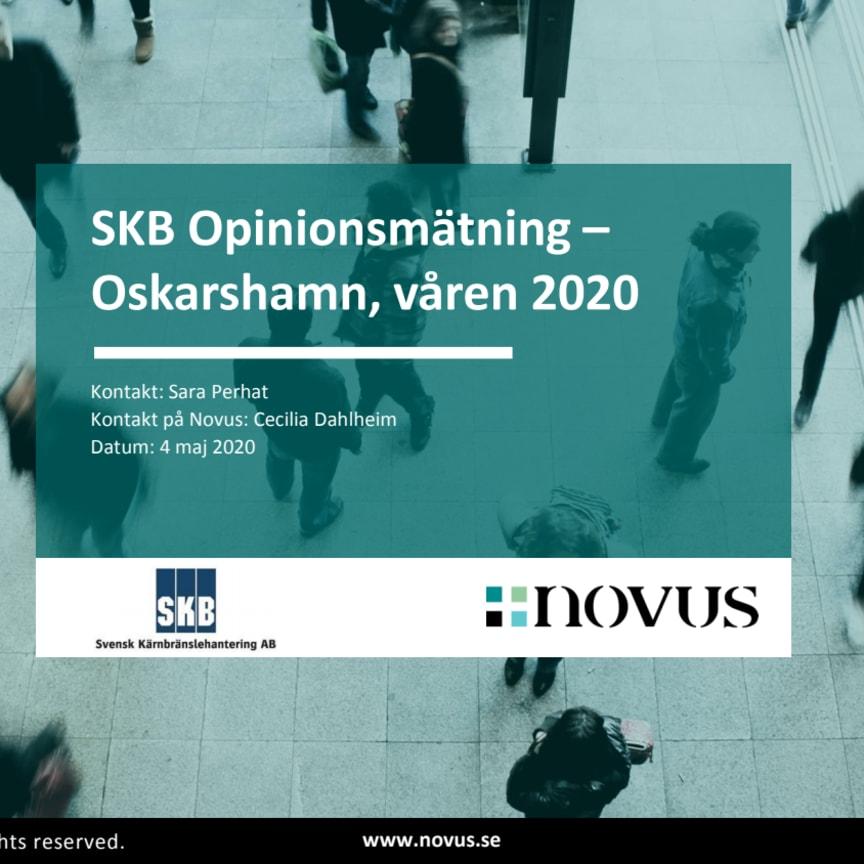 SKB Opinionsundersökning Oskarshamn 2020
