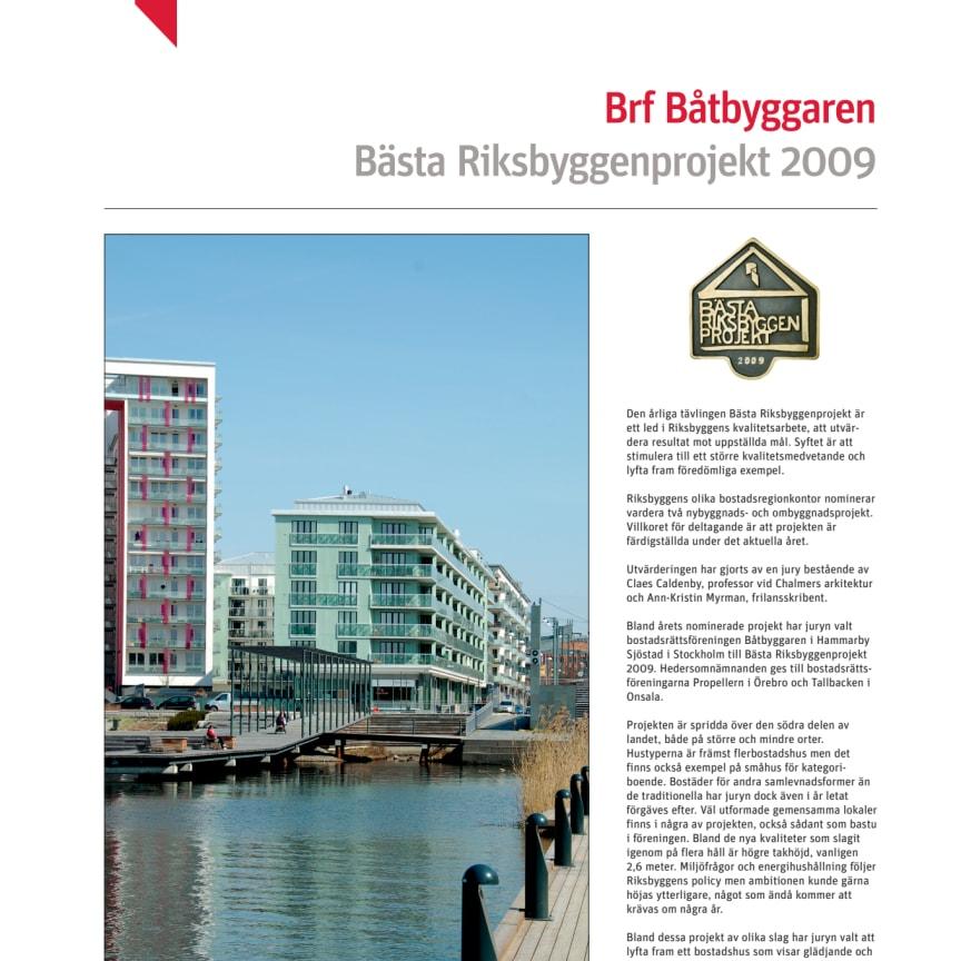 Bästa Riksbyggenprojekt 2009