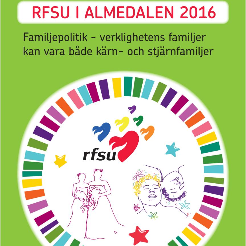 RFSU:s program för ALMEDALEN 2016