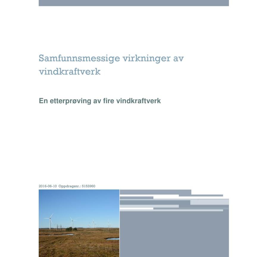 Rapport: Samfunnsmessige virkninger av vindkraft - en etterprøving av fire vindkraftverk  (Norconsult )