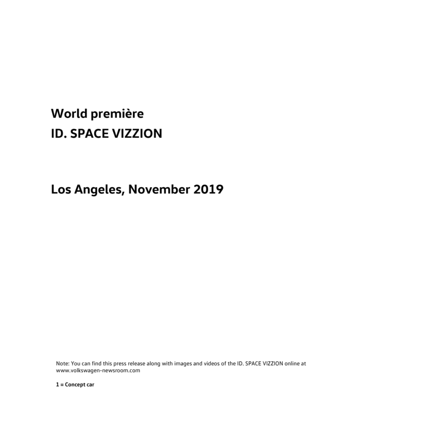 Verdenspremiere – ID. SPACE VIZZION