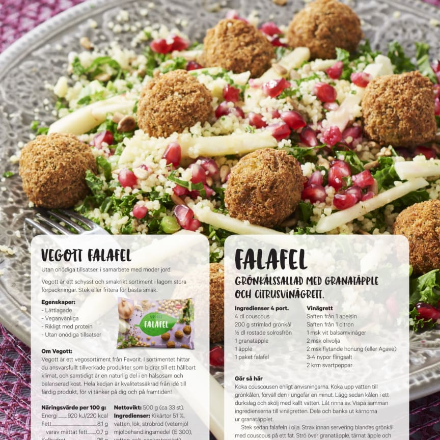 Favorit Vegott recept Falafel