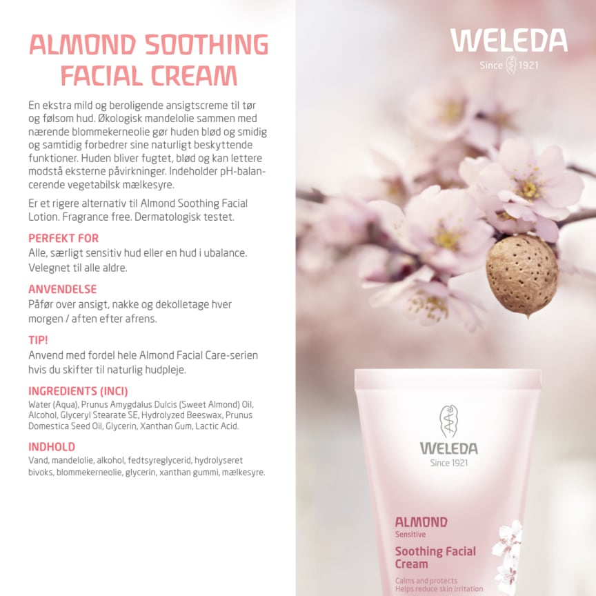 Dansk: Almond Soothing Facial Cream