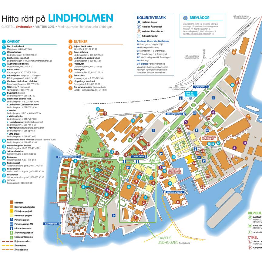 Hitta rätt-karta Lindholmen