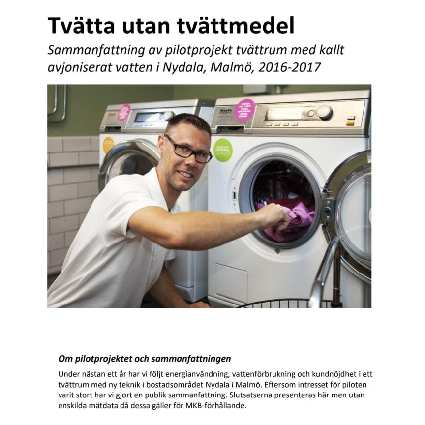 Tvätta utan tvättmedel - sammanfattning av pilotprojekt