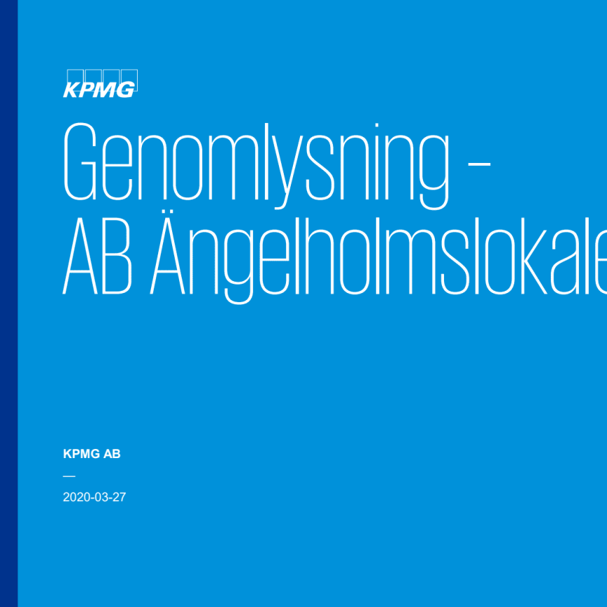 Slutrapport Genomlysning av AB Ängelholmslokaler