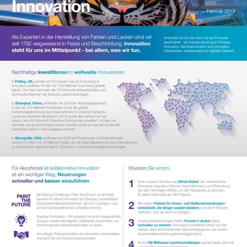 AkzoNobel - Zahlen und Fakten zum Thema Innovation