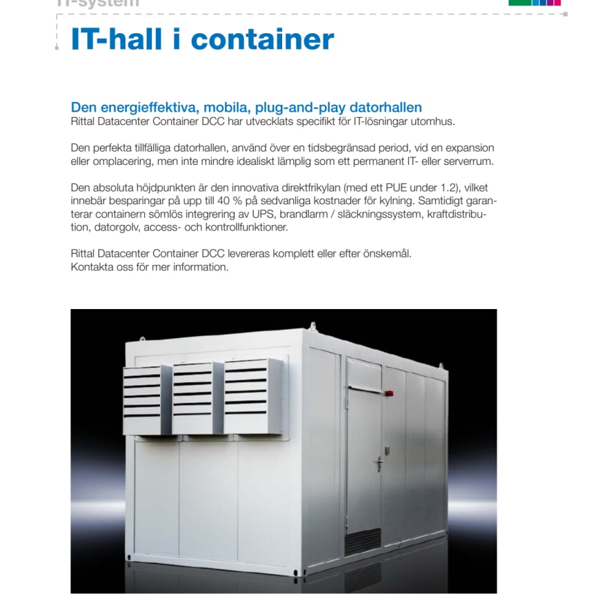 IT-hall i container