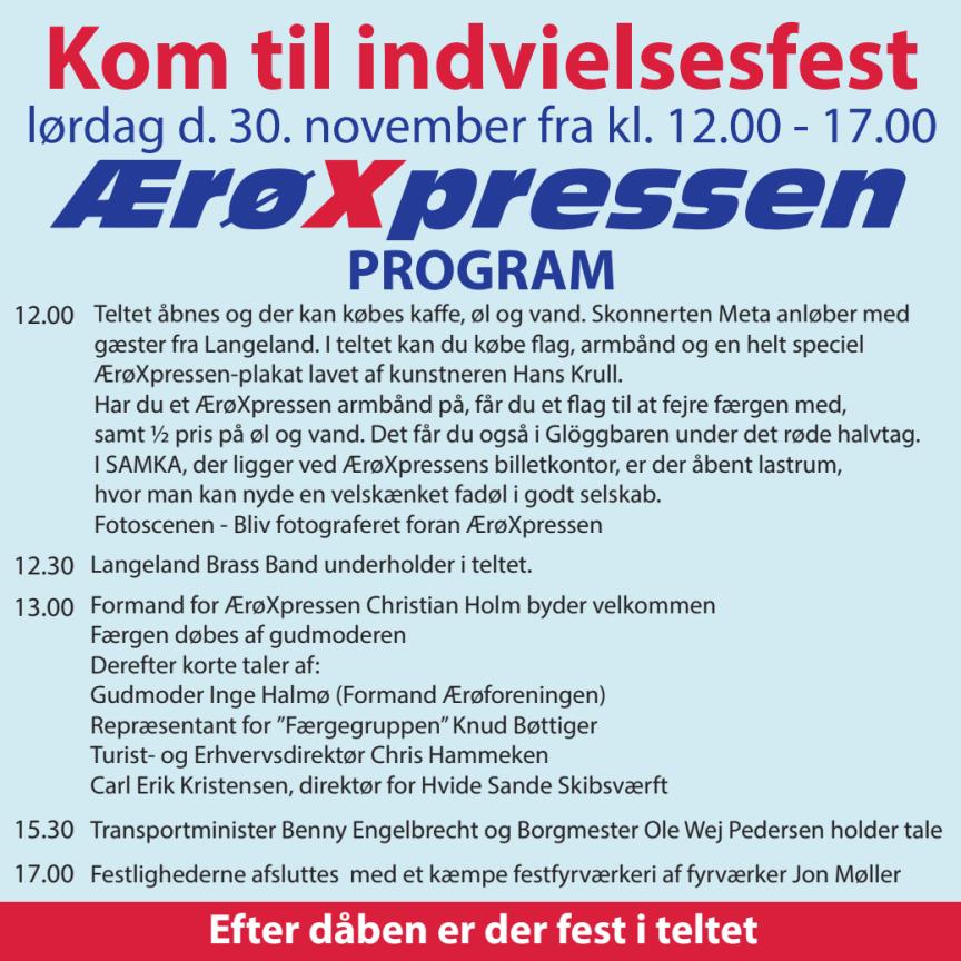 Program for indvielse af ÆrøXpressen