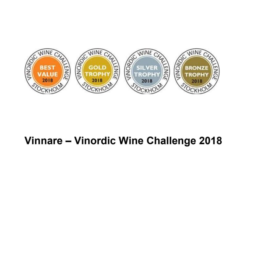 Vinnarlista Vinordic Wine Challenge 2018