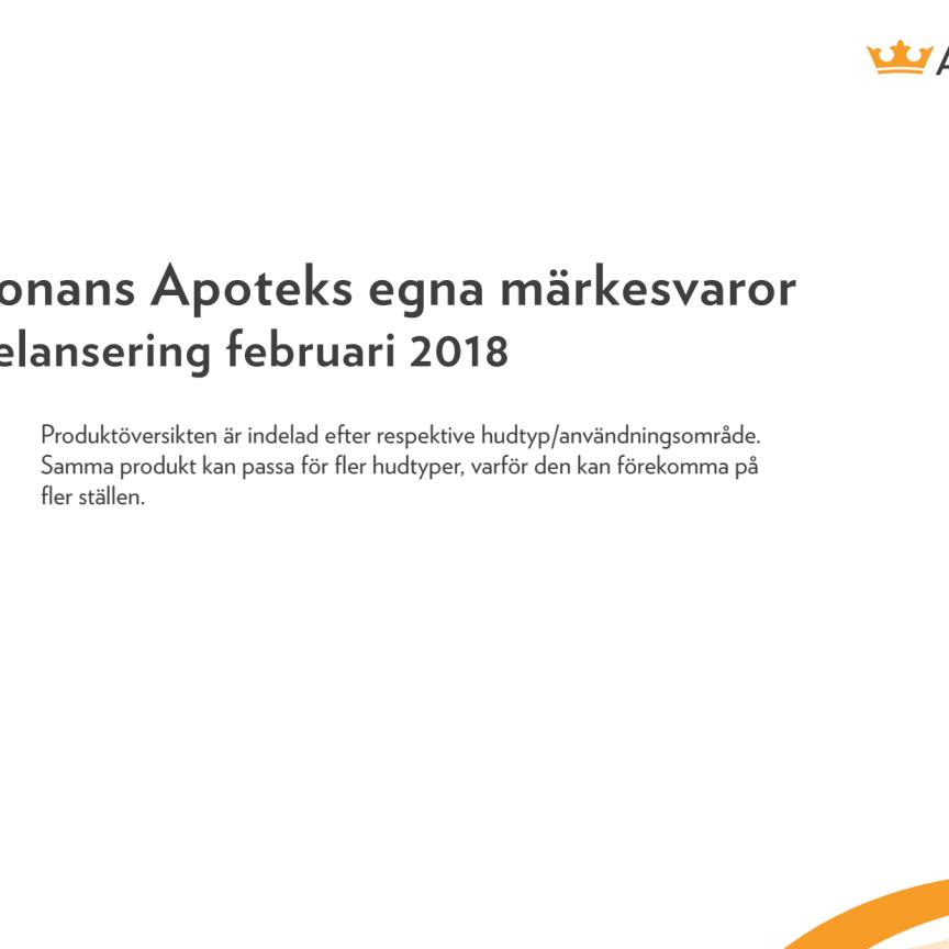 Pris- och produktblad - Kronans Apoteks nya hudvårdssortiment