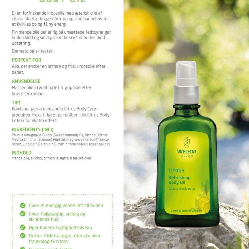Dansk: Citrus Body Oil