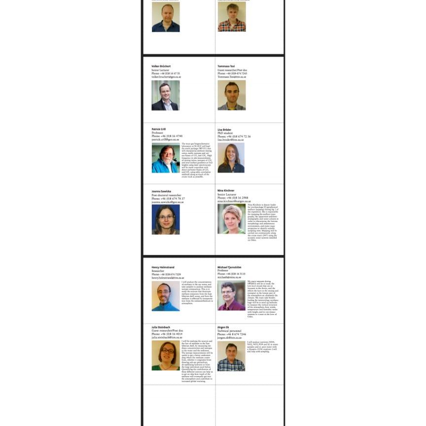 Presentationer av forskare med på Arktisexpeditionen Swerus-C3