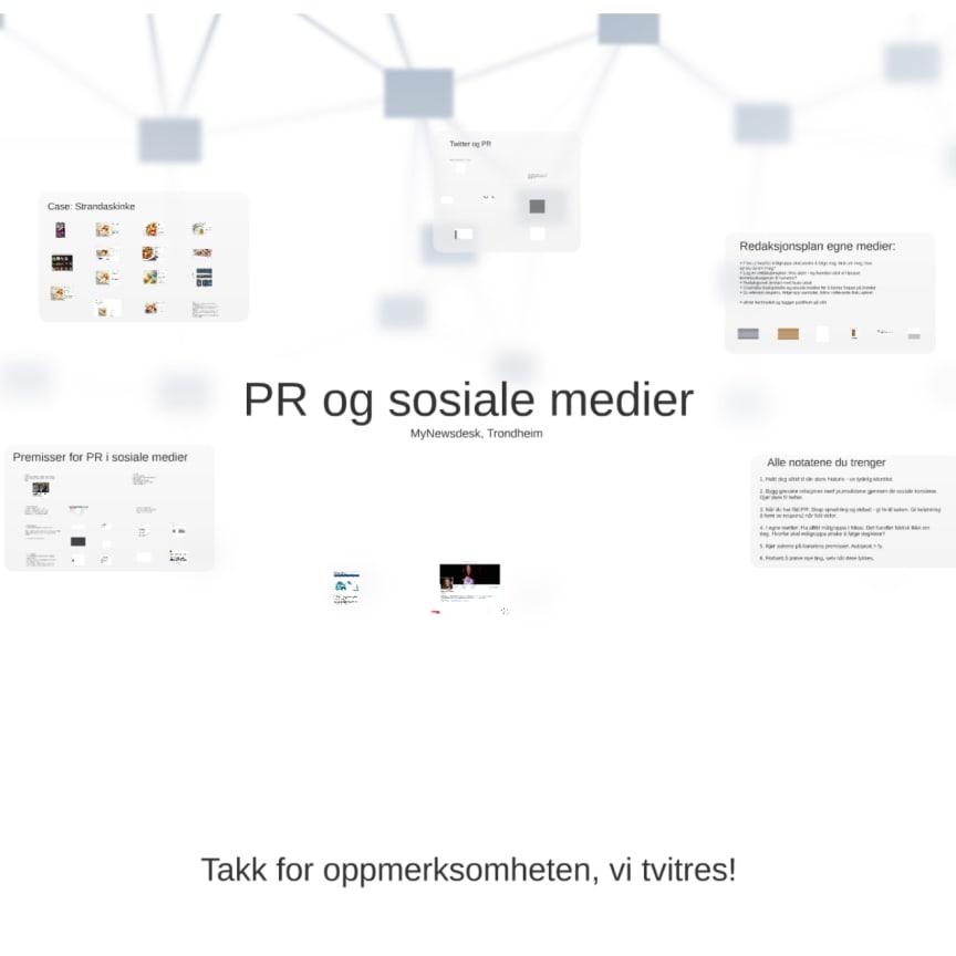 Ingvild Moen - PR og sosiale medier - Frokostseminar i Trondheim