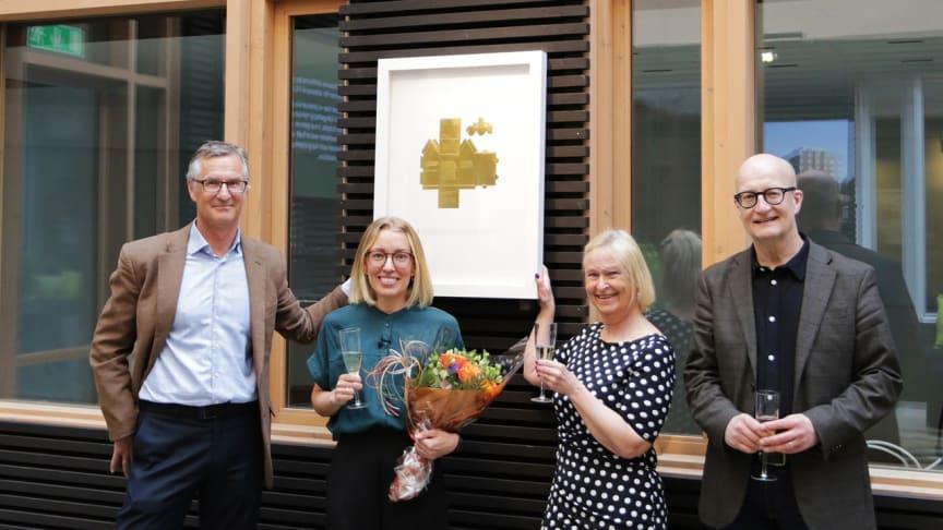 Lisa Wistrand tilldelas Guldhuset 2020 av CMB