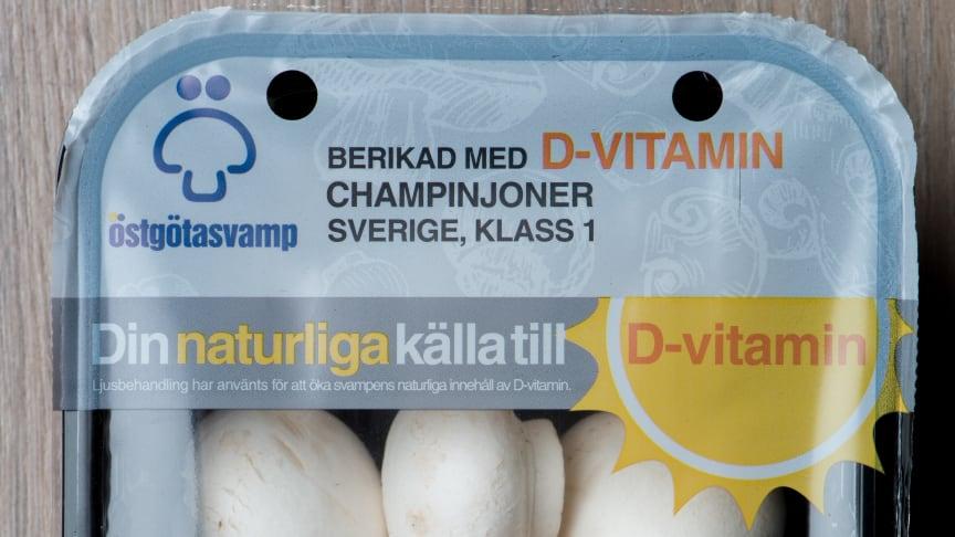 Konventionella D-vitamin champinjoner