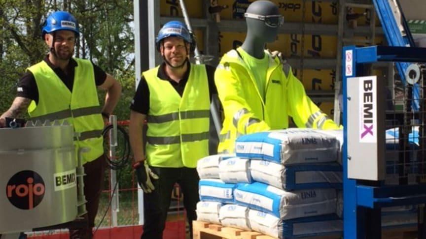 Bemix representerade på Byggbranschens Säkerhetspark vid Arlanda