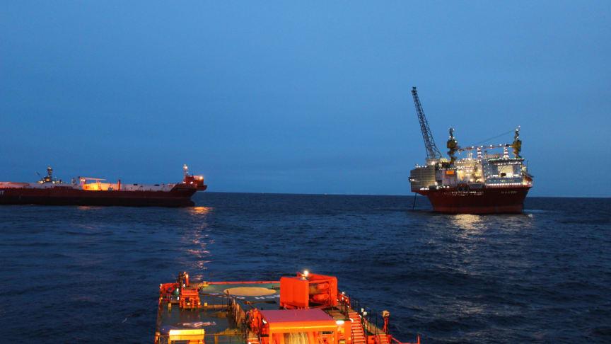 Vellykket første opkobling for 'Esvagt Aurora' i Goliatfeltet