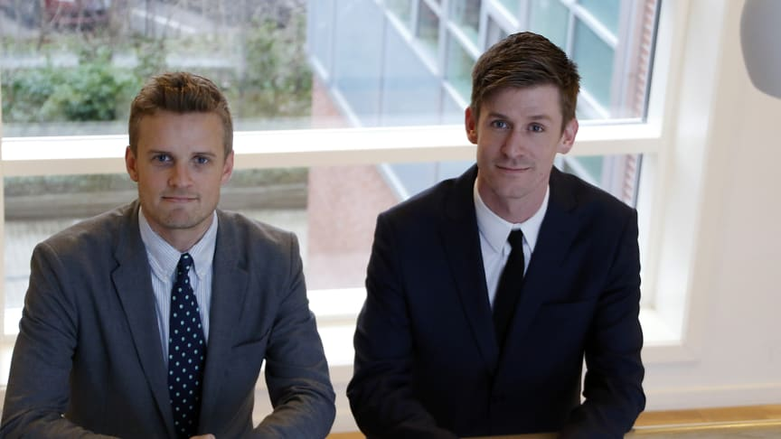 26-årige Morten Krogh Vermehren (tv) og 29-årige Kenny Vermehren Mitchboe er nye bestyrelsesmedlemmer i flere af koncernens bestyrelser. Foto: Jeanette Lagrelius.