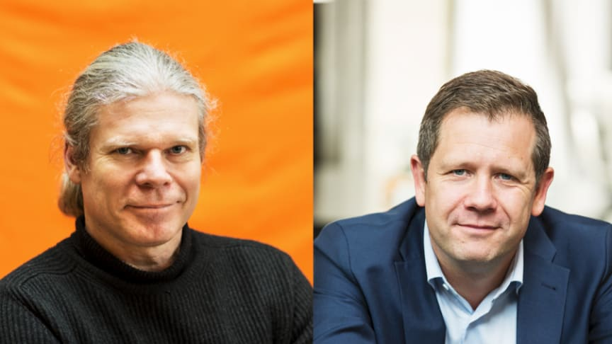 Fr v Jon Ossler, konceptägare Bonum seniorboende och Håkan Liljeblad, konceptägare Kooperativa hyresrättsföreningar för äldre.