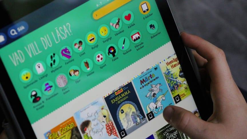 Med hjälp av den nya appen Bibblix kan barn upptäcka sin läslust.