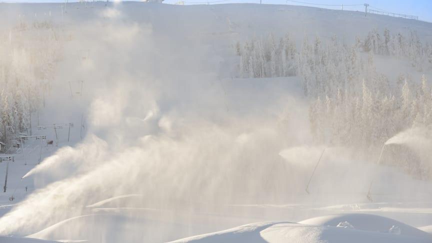 Nytt snöläggningssystem  säkerställer snö i fler nedfarter än någonsin