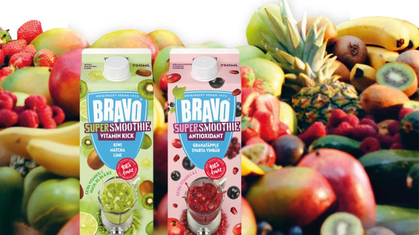 Bravo lanserar en SuperSmoothie i två varianter; VITAMN KICK och ANTIOXIDANT