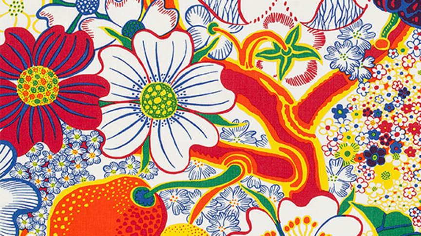 Mönster från utställningen Josef Franks flora. Bildkälla: Svenskt Tenn