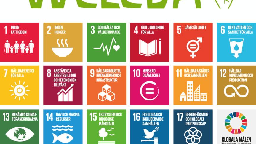 Weleda bidrar till FN:s samtliga 17 Globala mål för hållbar utveckling